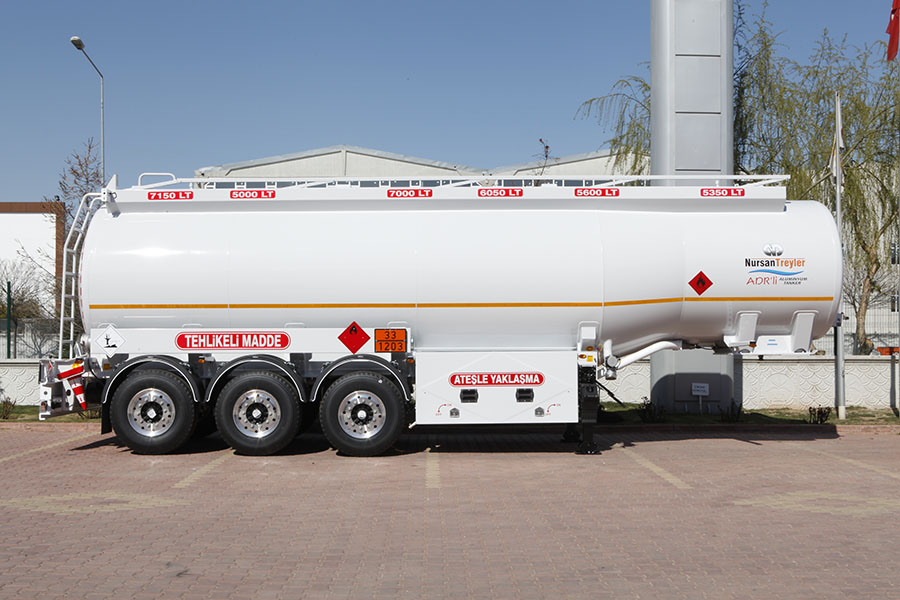 Adr Aluminium Fuel Tanker Nursan Trailer Nirudi